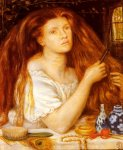 Dante Gabriel Rossetti (1828-1882)  Woman Combing Her Hair  Watercolor, pencil, 1865  37.5 x 44.5 cm (14.76